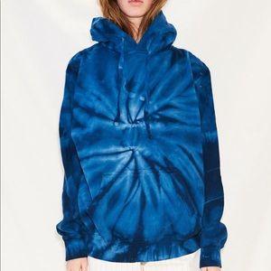 Blue tie-dye assembly New York sweatshirt hoodie